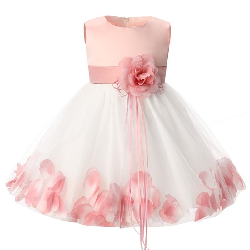 Newborn Baby Girl 1 Year Birthday Dress Petal Tulle Tutu Toddler Girl Christening Gown Infant Party Dresses For Girls Clothes 2T baby infant girl 1 year birthday party tutu dress 0 3 y toddler sleeveless princess wedding flower girls dresses clothing gdr267