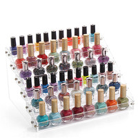 6 Tiers New Promotion Makeup Cosmetic Clear Acrylic Organizer Lipstick Jewelry Display Stand Holder Nail Polish