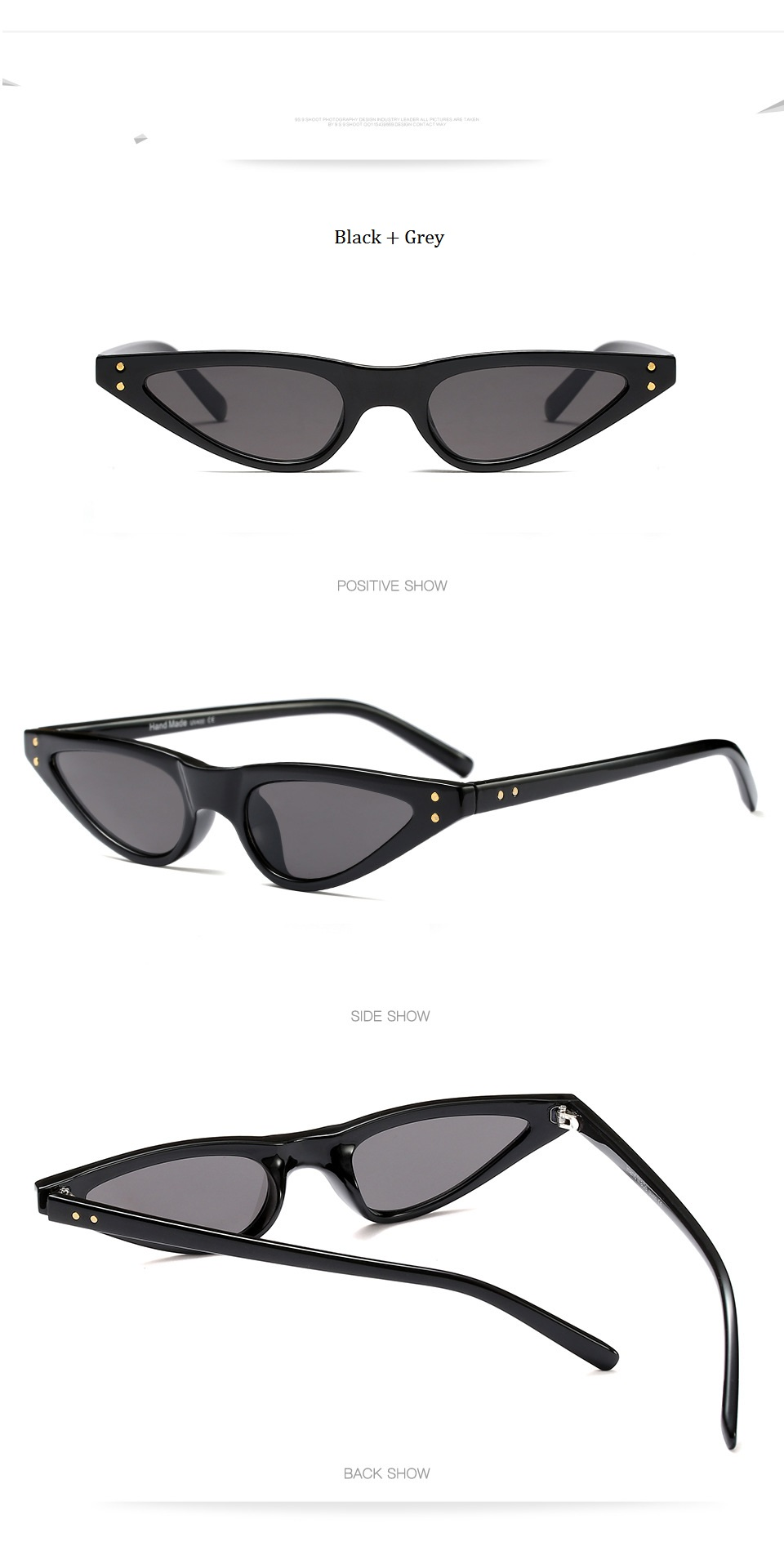 HTB1pxc6ckfb uJjSsrbq6z6bVXau - Unisex Flat Top Eyeglasses Small Triangle Frame Cat Eye Sunglasses Women UV400 2018 Fashion Color Ocean Film Sun Glasses Cool