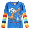 Pode escolher o tamanho, 5 tamanho diferente e foi decorado, menino camisa de manga longa t nova crianças marca o pescoço