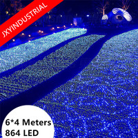 Free Fedex 1pcs/lot 6M x4M 860leds led net string lights Bulbs Outdoor Decoration LED Christmas net Light holiday party light