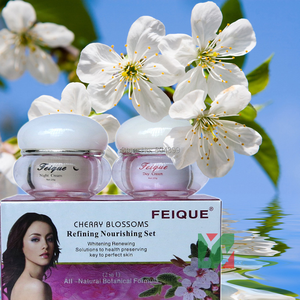 2014 New Arrival FEIQUE cherry blossoms refining nourishing facial cream anti freckle cream 20g+20g crazy promotion