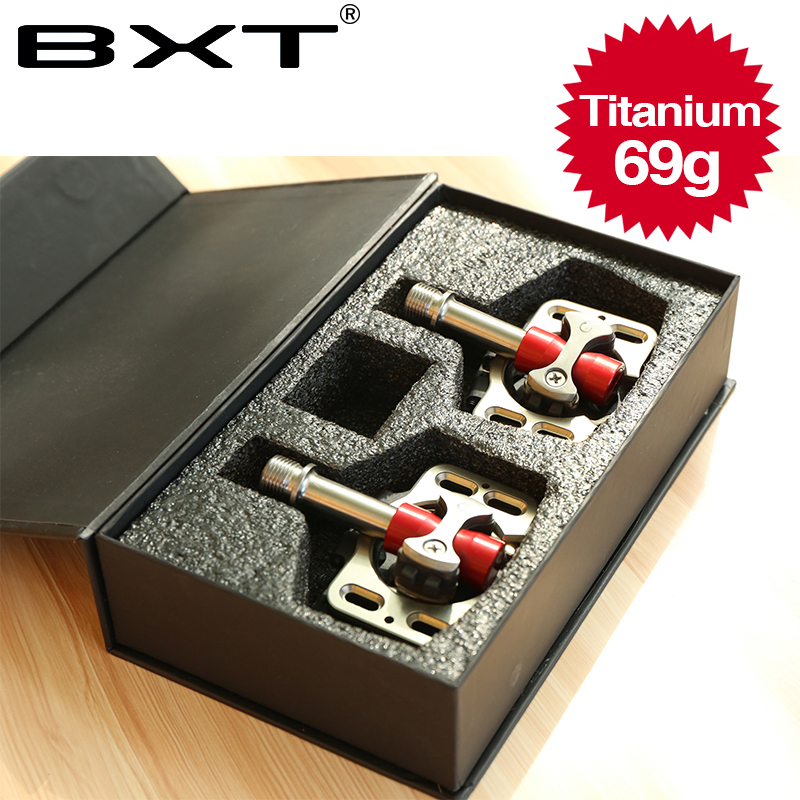 BXT alloy axis MTB/Road bike pedals light weight and durable cycling titanium bicycle pedals part axis superlight M69g weight tito ultralight titanium mtb road bike axis pedals titanium bicycle pedals axis cycling platform cnc 1 pair titanium pedal