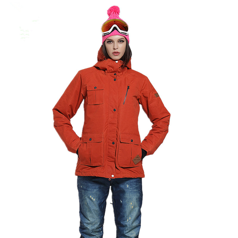 Free Shipping Warm Waterproof Female Ski Wear Coat Winter Ski Jacket Women Hooded Snowboarding Jacket Thermal Ski Wear In Winter ...