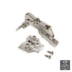 EMUCA 1013107 lot 10 scharnieren elleboog X91's diafragma 165 ° met rits donzig en supplementen Euro met regelgeving excentrieke|Elektrisch gereedschap sets|   -