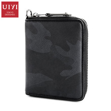 ФОТО  uiyi brand new pu imported from japan men portable wallet bags fashion passport cover for male casual purse  quality handbags