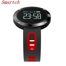 Smartch DM58 smart Сердечного ритма крови Давление часы IP68 Водонепроницаемый Спортивный Браслет Смарт фитнес-трекер для IOS