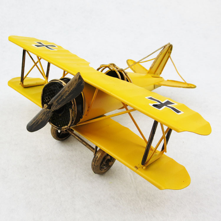 new battleplane model handmade iron crafts retro decor home decoration for boy festival birthday gifts