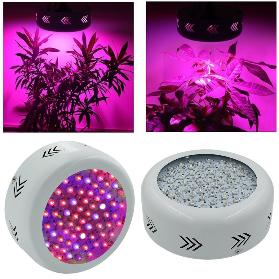 UFO 216W LED Grow Light 72X3W LEDs Full Spectrum Grow Box 410-730nm For Indoor Plants and Flower with Very High Yield