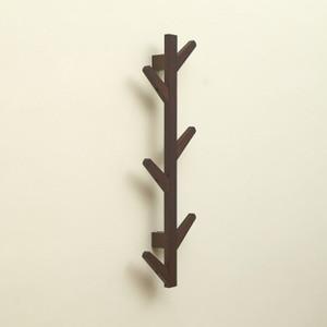 Image 4 - Styl skandynawski wieszak na kurtki nowy 6 haczyków półki ścienne bambusowy drewniany wieszak salon dekoracja sypialni wieszak