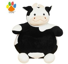 new creative big cow sofa toy cartoon black&white cow sofa doll gift about 60x60cm