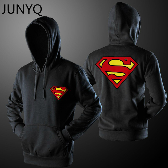 2017 New men Hoodie superman Varsity Jacket of Autumn Casual Sweatshirt Hoodies Coat Jacket S-XXL