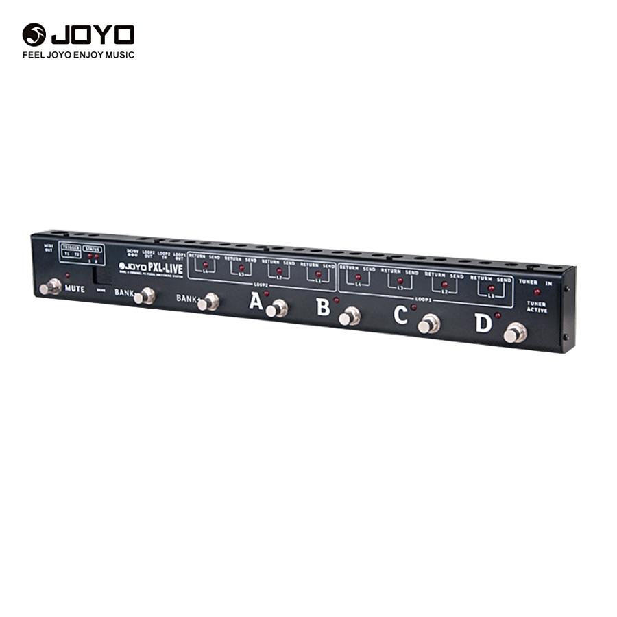 YUEKO JOYO PXL-LIVE Programmable Pedal Controller Switching Grouping System Looper Control Station with MIDI out Buffered Bypass joyo guitar effects pedal controller 4 looper stompbox control station programmable grouping system free shipping