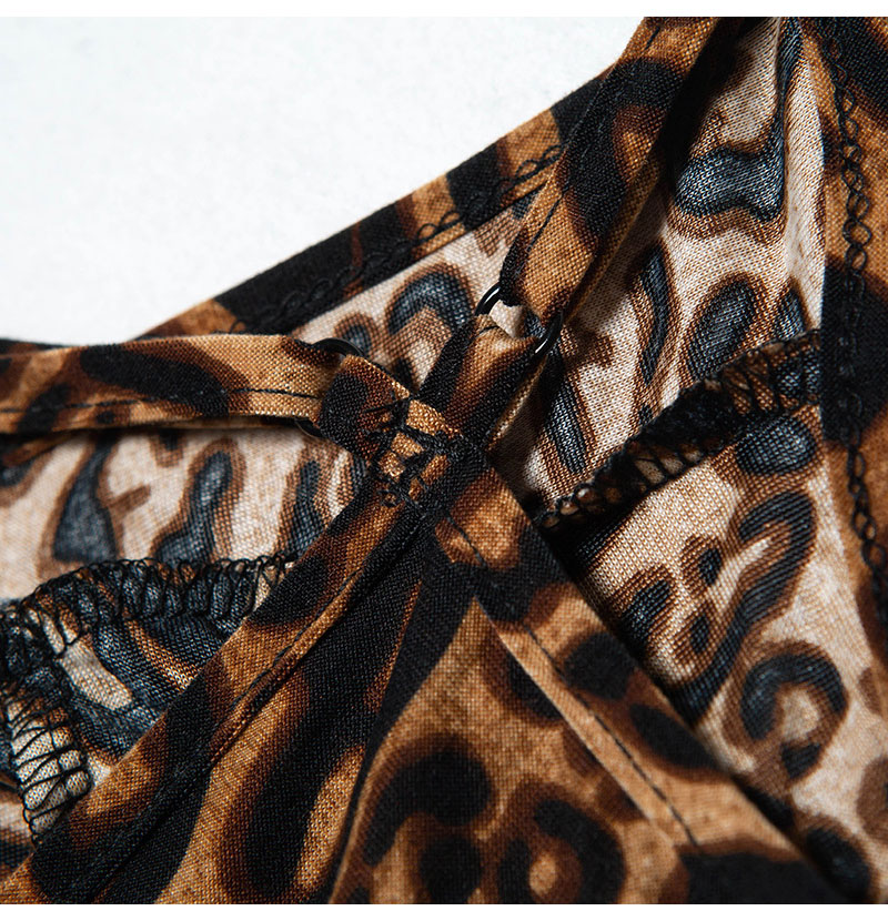 Women's Sexy Lingerie Bodysuits Leopard Print Nightwear Underwear Sexy Hot G-string Erotic Deep V Neck Babydoll (8)