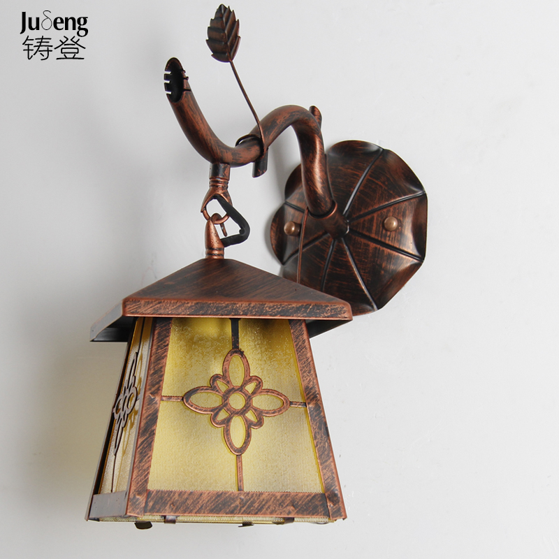 Iron village dining room wall retro restaurant in front of the balcony aisle bedroom bedside lamp wall lamp FG236