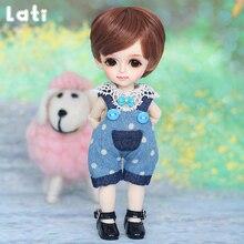 Lati sarı Byurl BJD bebek için 1/8 yüksek kalite sevimli kız oyuncak en iyi noel hediye LutsLCC