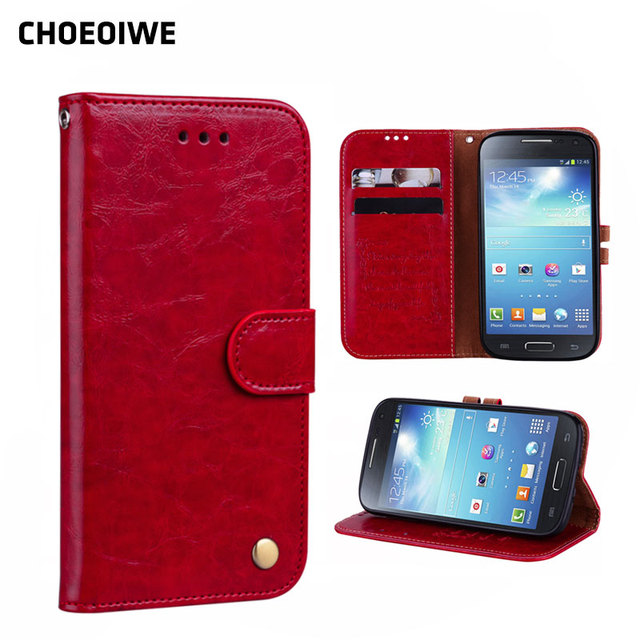 CHOEOIWE Phone Covers for Samsung Galaxy S4 S IV I9500 i9505 GT-i9500 Case Flip Leather Wallet Cases Business Vintage Cover