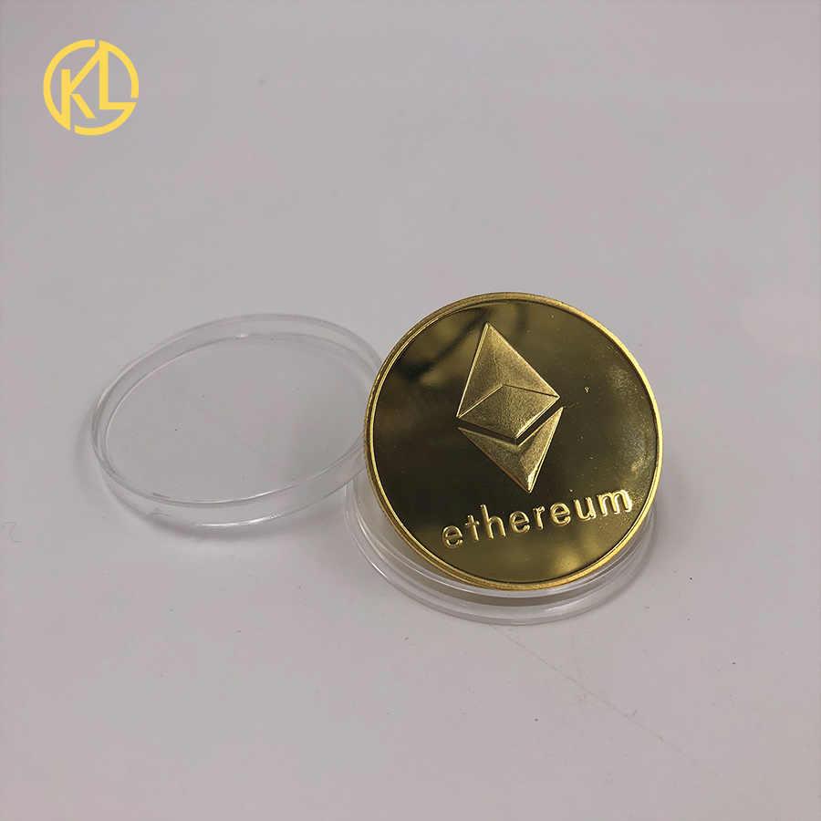 CO011 смешанный цвет покрытый Eth Программирование эфириум сувенир Биткойн великолепные памятные коллекционные физические монеты