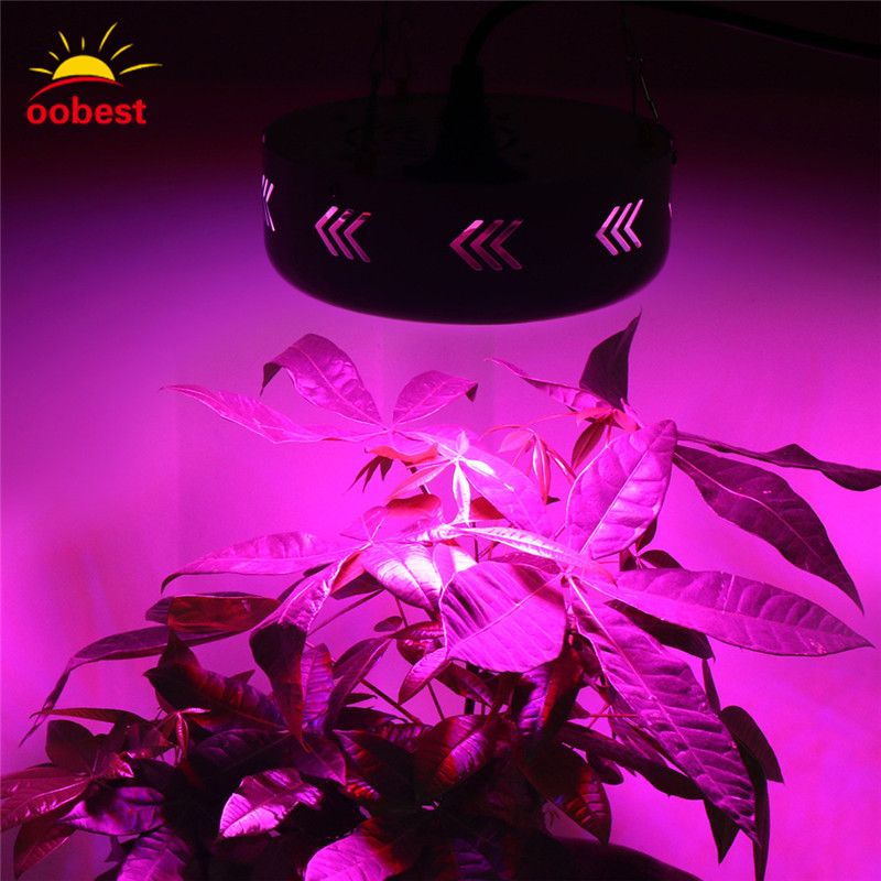 Oobest 55W UFO 72 LED Grow Light Full Spectrum Hydroponic Flowering Plant Lamp Hanging Type Grow Lamp For Greenhouse 200w full spectrum led grow lights led lighting for hydroponic indoor medicinal plants growth and flowering grow tent