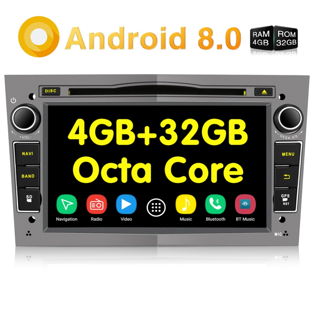Pumpkin 2 Din7''Android 8.0 Car Radio DVD Player GPS Navigation 4GB RAM Wifi Octa-core Car Stereo Audio For Opel/Vectra/Astra