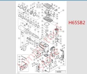 Image 2 - 220 V 230 V גלגל מכון ASSY להחליף עבור Hitachi 340259E 340259K H65SD H65SC H65SD2 H65SB2 H 65SC שדה גלגל מכון