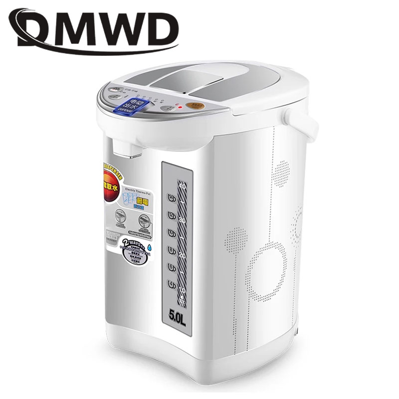 DMWD Stainless Steel Hot Water Instant Heating Pot Thermal Insulation Electric Kettle Constant Temperature Cup Boiler