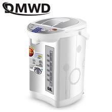 DMWD нержавеющая сталь Горячая вода мгновенный нагрев горшок Теплоизоляция Электрический чайник постоянная температура чашки котел 5л ЕС Plug