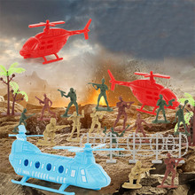 86pcs/set Military Model Figure Toy For Boys Sand Table Desktop Game Military Ornaments Soldier Collection Learning Toy Gifts