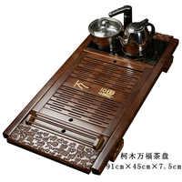 Thee Platform Complete Set van Massief Hout Water Drainage Thee Pallet Bamboe Thee Plaat Elektromagnetische Oven Huishouden