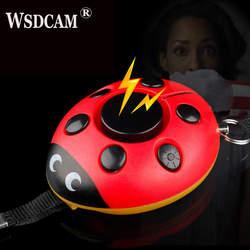 Самозащита сигнализация 130дб Жук девушка женщины Безопасность Защита предупреждение Личная Безопасность сигнализации крик громкий