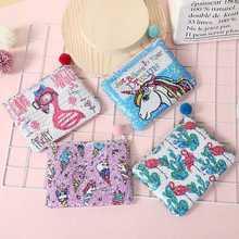Creative Cartoon Unicorn Cosmetic Bag Travel Zipper Makeup Mini Hair Ball Pendant Make Up Multicolor Toiletry Kit Pouch