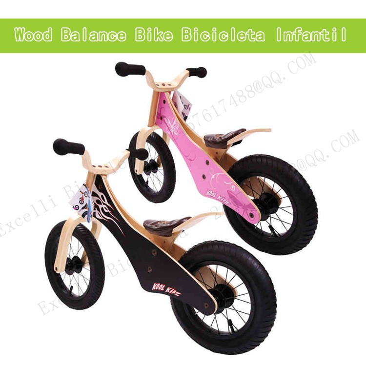 a05-Baby two wheels Wood Balance Bike for 2-6 Years age Bicicleta Infantil Balance Bike Kid's bicycle Common Childen's Cycling
