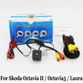 For Skoda Octavia II / Toura / A5 / Octavia5 / Laura / RCA Wire Or Wireless HD Wide Lens Angle CCD Night Vision Rear View Camera