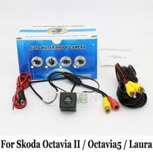 Para Skoda Octavia II/Toura/A5/Octavia5/Laura/RCA Cable O Inalámbrica HD Gran Angular de Lente de Visión Nocturna del CCD de Visión Trasera cámara