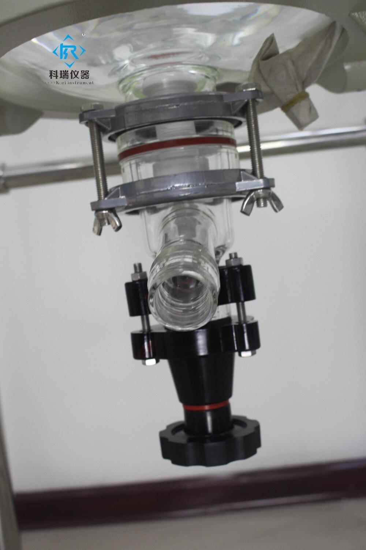 SF 10Liter Chimique Laboratoire réacteurs En Verre À Double Enveloppe de refroidissement/usine Pilote réacteur doublé de verre - 3