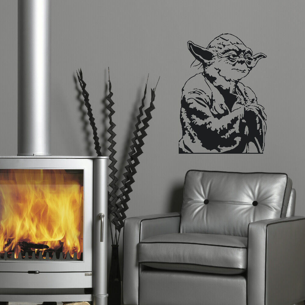 Aliexpress.com : Buy LARGE YODA STAR WARS CHILDRENS BEDROOM WALL MURAL  STICKER TRANSFER VINYL CUT DECAL STENCIL HOME DECOR From Reliable Home  Decor ...