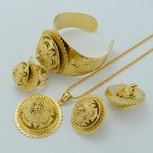 NEW Ethiopian Jewelry Sets – Real Gold Plated Habesha Set Ethiopia Wedding Bridal Jewelry Eritrea Nation Accessories #006902