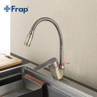 Antique Style Bronze Kitchen Faucet Cold And Hot Water Mixer Tap Torneira Cozinha Flexible Nose 360