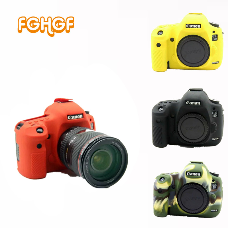 Soft SLR Silicone Camera Bag for Canon EOS 5D Mark III 5D3 5DS 5DR Lightweight Camera Bag Case Cover