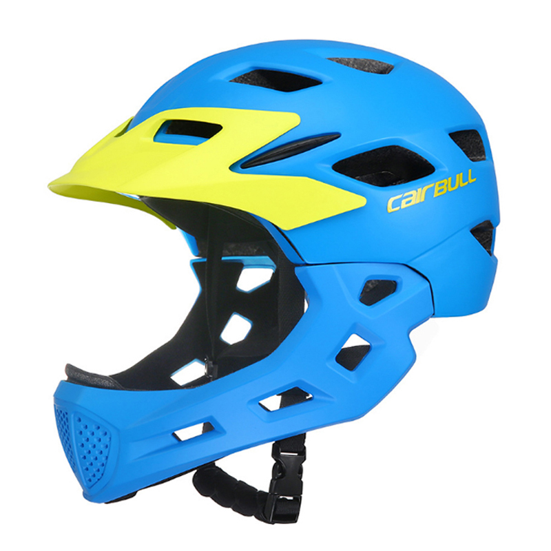 Boys Girls Child Cycling Helmet High Quality Mouth Guard Mountain MTB DH Bicycle Helmet Bike Helmet
