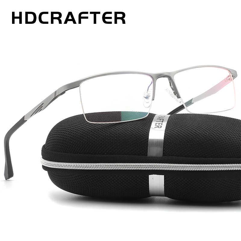 5586aaec6d6d Men's Super Light Metal Optical Glasses Frame,Brand Designer ...