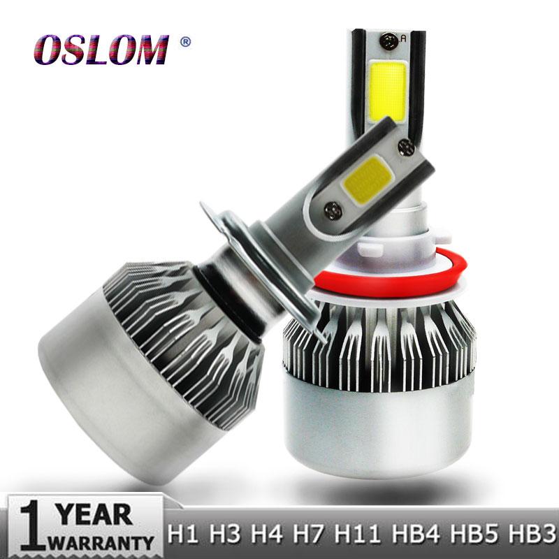 Oslam H4 H7 H11 H1 H13 H3 9004 9005 9006 9007 9012 COB LED Car Headlight Bulb Hi-Lo Beam 72W 8000LM 6500K Auto Headlamp 12v 24v  isincer g5 h4 h7 h11 h13 9005 9006 h1 9007 cob led car headlight bulb hi lo beam 110w 16000lm 6500k auto headlamp 12v fog lights