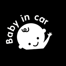 SLIVERYSERA 1PCS 12*9 cm Baby On Board Baby In Car Car Sticker Waterproof Reflective Car Decal On Rear Windshield Wholesale hot car styling baby in car warning sticker rear window cute boy baby on board diy reflective car decal black white