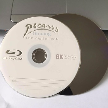 Wholesale 25 discs A+ Picasso 6x 25GB Blank Printed Blu Ray BD-R Disks 1