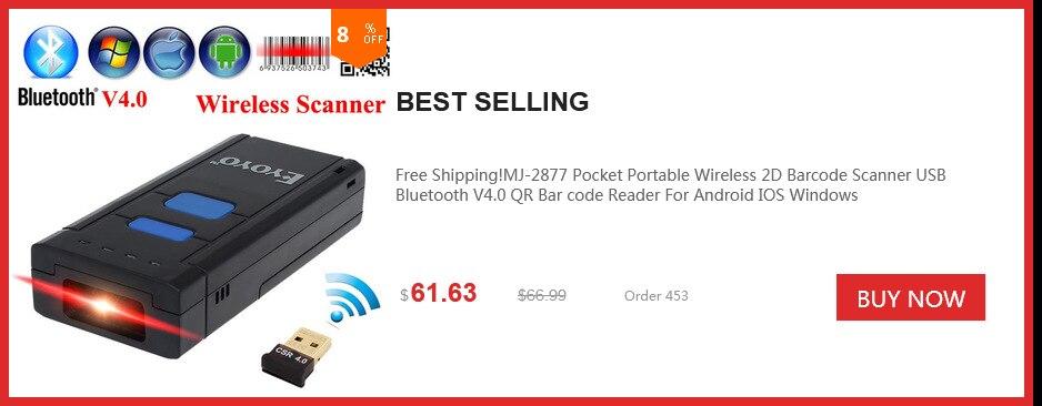1D Wireless Bar Code Scanner Laser Barcode Scanner Mini
