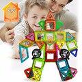 Minitudou 30 unids magnéticos de construcción de juguetes de bloques de ladrillos educativos juguetes diy 3d de diseño magnético