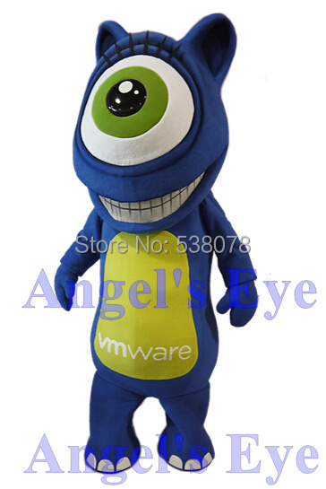 1 Eyed Cartoon Characters : Yellow and blue cartoon character with one eye