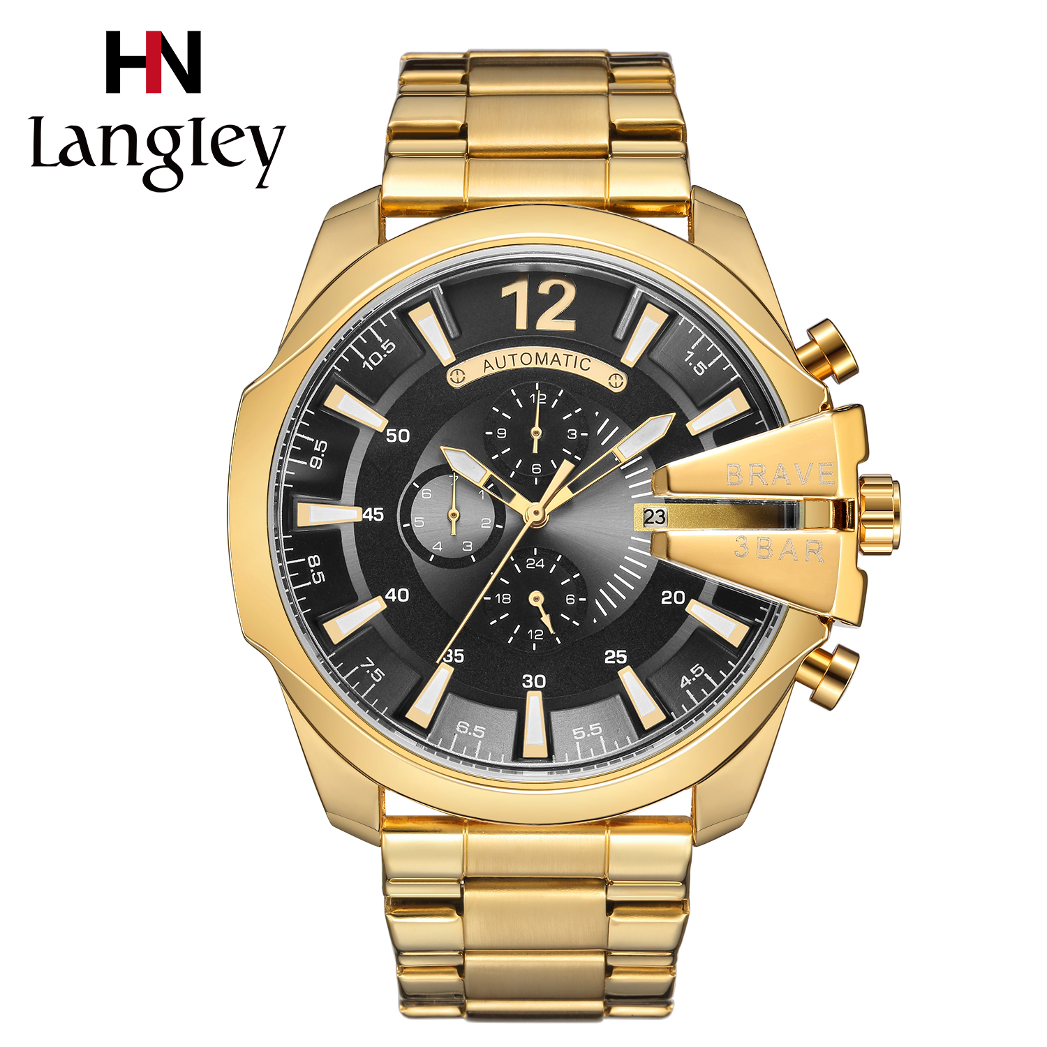 Classic Men Watches Gold Automatic Mechanical Wristwatch Luxury Brand Army Military Watch Male Clock Sport Clock Relogios winner automatic mechanical watches men s gold luxury steel wrist watch men 2018 military sport skeleton military army clock