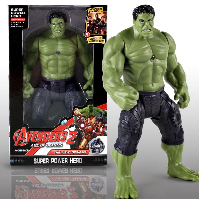 цена на 2018 Hot Marvel Amazing Ultimate Hulk Captain America Iron Man PVC Action Figure Collectible Model Doll for Kids Children's Toys
