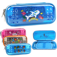 1 X Big Feet Eva Pencil Case Multifunctional Curtain Pencil Box Elementary Student School Stationery Supplies